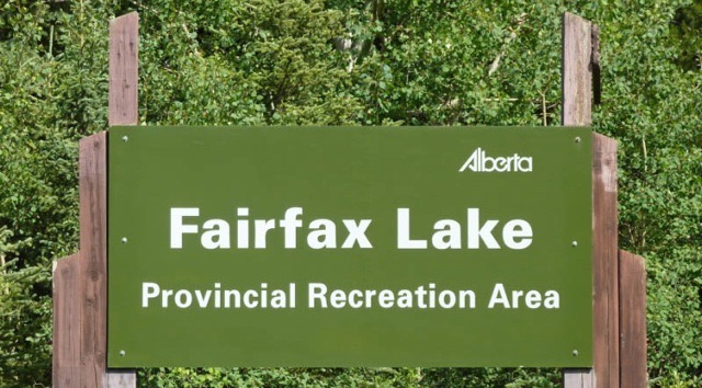 Fairfax Lake Sign